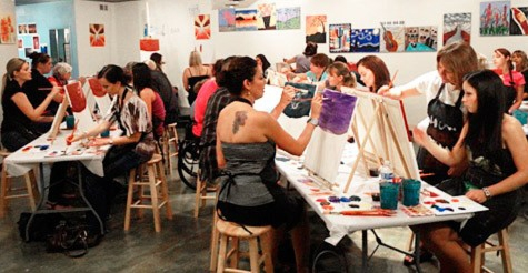 voice daily deals 44 for painting class and wine for 2 On paint and wine minneapolis