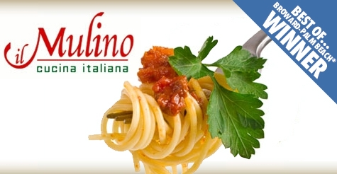 $20 for $40 worth of food & drinks at il Mulino Cucina Italiana