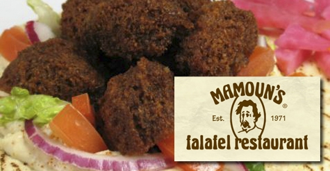 $1 for a falafel sandwich from Mamoun's