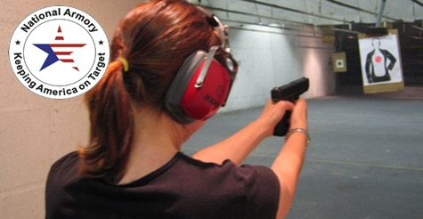 $54 for a 60-Minute Range Package for 2 from National Armory Gun Store