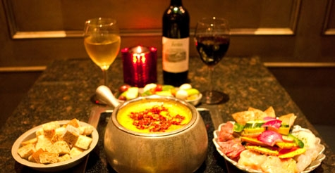$40 for a classic 4-course meal for two at Simply Fondue