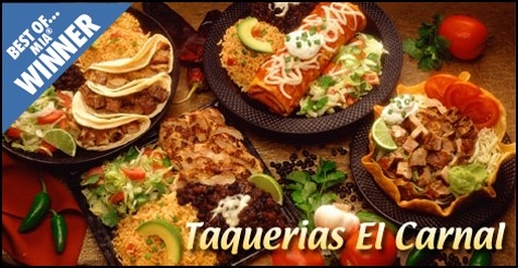 $6 for $14 worth of authentic Mexican food & drinks at Taquerias El Carnal