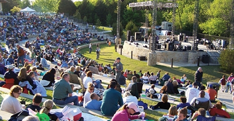 $15 for 2 tickets to Second Saturday at The Amp show at Oak Point Amphitheater, April 14