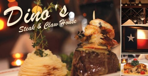 $25 for $50 of food & drink at Dino's Steak and Claw House
