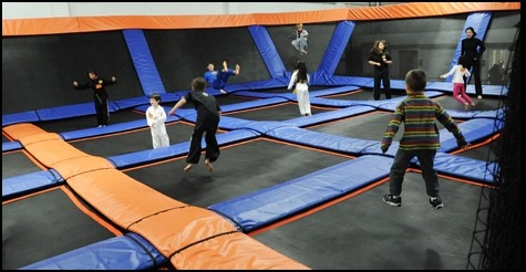 $11 for 60-minutes of play and beverages for 2 at SkyMania Trampolines