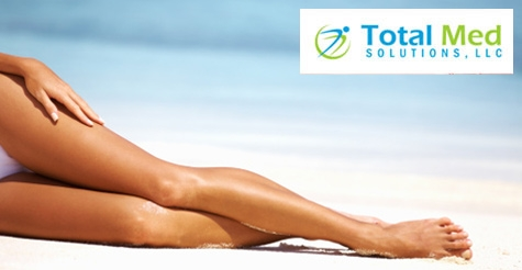 $99 for 6 Laser Hair Removal Treatments on 2 Small Areas from Total Med Solutions, LLC