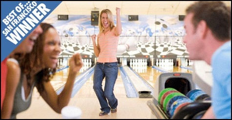 $16 for 4 games of bowling and 2 shoe rentals at Presidio Bowling Center