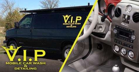 $98 for Full Interior Detail from V.I.P. Mobile Car Wash & Detailing for Vans, Trucks, Wagons & SUVs