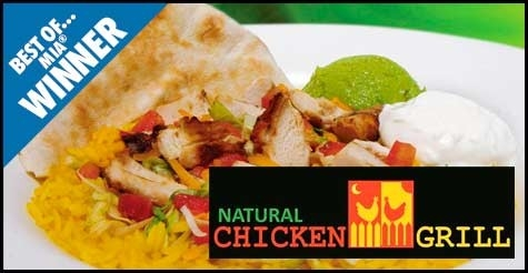 $10 for $20 worth of food & drinks at Natural Chicken Grill