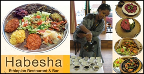 $10 for $20 of food & drinks at Habesha Ethiopian Restaurant