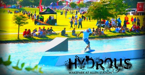 $59 for two 2-hr cable watersports passes including equipment rental, heater tops, pizza and more at Hydrous Wake Park at Allen Station