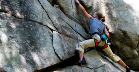 $55 for a 4-hour beginner rock climbing session at Pinnacles or Castle Rock Park