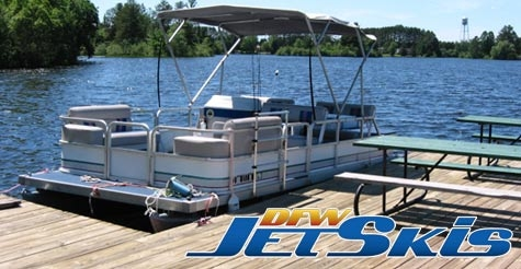 $75 for a 2-hour pontoon boat rental from DFW Jetskis