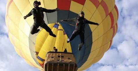 50% off Hot Air Ballooning, Breakfast, & Skydiving Show