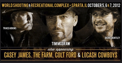 $20 for admission to Southern Illinois Country Fest on Friday, 10/6 featuring Trace Adkins
