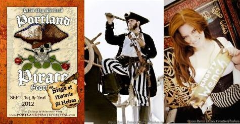 $18 for two adult passes to the 2-day Portland Pirate Festival on Labor Day Weekend