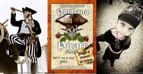 $13 for one adult & one youth pass to the 2-day Portland Pirate Festival on Labor Day Weekend