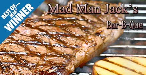 $10 for $20 worth of food and drinks at Mad Man Jack's BBQ