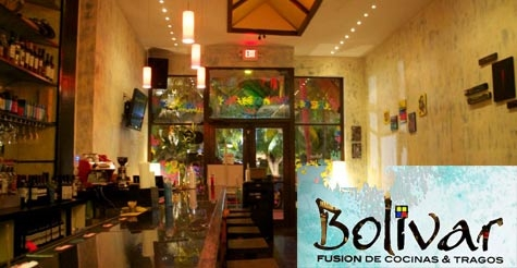 $10 for $20 worth of food and drinks at Bolivar