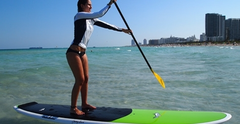 $19 for a one-hour stand up paddle board rental at Hirooka Surf and Sport (reg. $40)