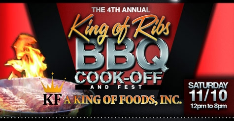 $25 for 2 admissions to the 4th Annual King of Ribs BBQ Festival, 8 Food Samples, Reserved VIP Parking, 2 Beverages, & 2 Gift Bags