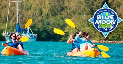 $30 for a 4-hour double kayak rental from Blue Moon
