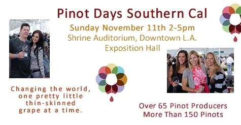 $35 for one general admission ticket to Southern California Pinot Days on November 11th