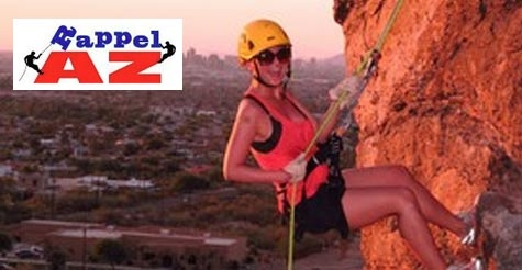 $89 for a 400-foot zip line glide, 40-foot mountain rappel and 30-foot leap from Rappel Arizona