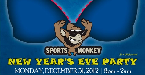 $39 ticket to SportsMonkey's 9th Annual BLT New Year's Eve Party