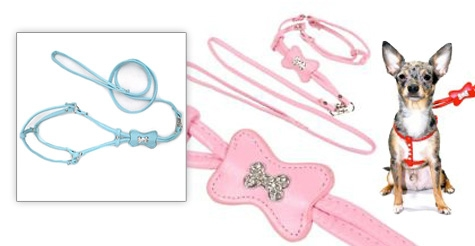 $20 for a Rhinstone Dogbone Harness & Leash