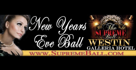 Half off GA ticket to the 2013 New Year's Eve Supreme Ball at The Westin Galleria