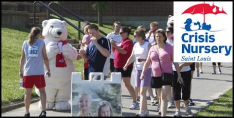 $10 Registration for the 5K fun run and 1 mile walk to benefit Saint Louis Crisis Nursery on May 4