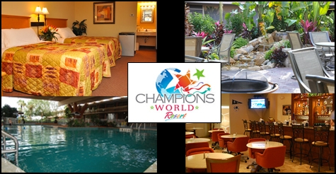 $55 for 2 nights at Champions World Resort in Orlando (room tax included) and a $40 Gift Certificate to Planet Hollywood Restaurant