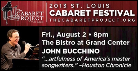 $35 for two tickets to the John Bucchino performance on Friday, 8/2 at the St. Louis Cabaret Festival