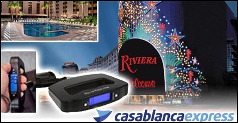 $25 for 1-night stay at the Riviera Hotel & Casino in Las Vegas plus a digital luggage scale