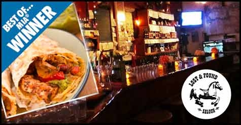 $19 for $40 worth of food and drinks at the Lost and Found Saloon