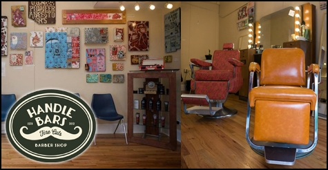 $15 for a men's haircut and neck shave from Handlebars Barber Shop