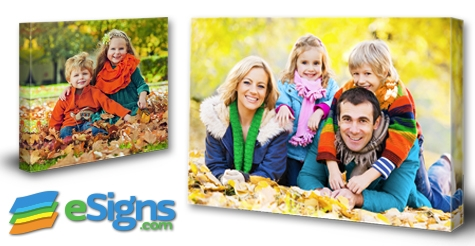 $29 for 16x20 1.5 Inch Gallery Wrap Canvas - Shipping Included at eSigns.com