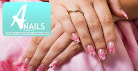 15 for one gel manicure from Florida Sculptured Nails