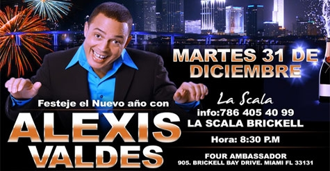 $75 for one VIP pass to the Alexis Valdes New Year's Eve Party & Dinner Show