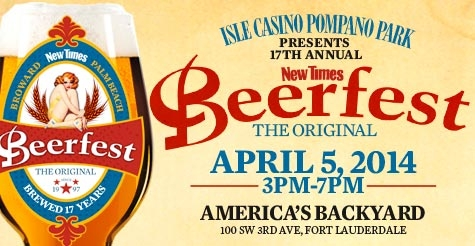 $20 for one GA pass to the 17th Annual New Times Beerfest
