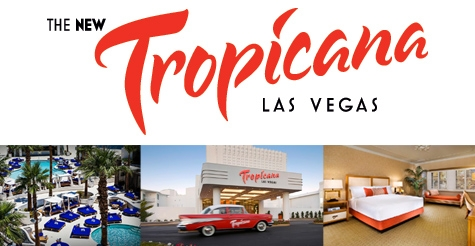 $119 for 2 Night Stay at the Tropicana Las Vegas, Las Vegas BITE Card and a free $100 Restaurant.com Gift Card - Room Tax included-