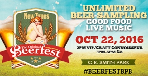 $40 VIP Ticket to New Times 19th Annual Original Beerfest