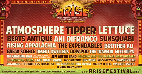 $225 One three-day ticket w/ VIP Stage View, Camping & Backstage Package Upgrade to Arise Music Festival Aug 4-6, 2017