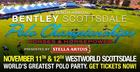 GA ticket to the 7th Annual Bentley Scottsdale Polo Championships