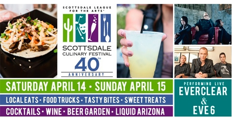 2 for $12 GA Tickets to the Scottsdale Culinary Festival- Sunday