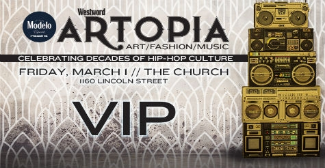 24% off VIP ticket to Westword's Artopia on Friday, March 1, 2019!