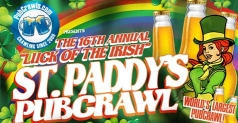 $12 for a 3-day all access pass to the national Saint Paddys Luck of the Irish PubCrawl