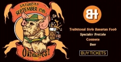 Two tickets for $10 to the Brat Haus Oktoberfest