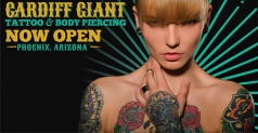 $200 Gift Certificate for $100 at Cardiff Giant Tattoo!